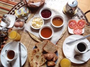 メルズーガ Kasbah Mohayut 朝食