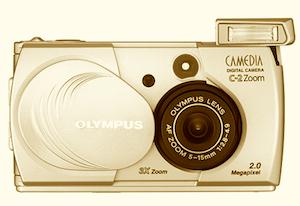 旧型オリンパス デジタルカメラ