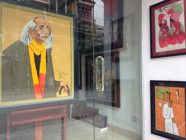 ハノイの画廊 黄色の老人