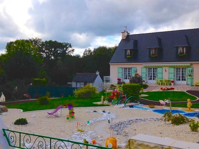 フランス ブルターニュのお家 グリーン