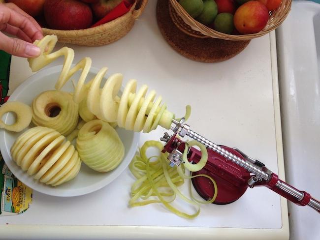 フランス リンゴ皮むき&スライス器